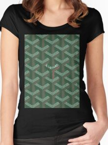 goyard logo Women's Fitted Scoop T-Shirt