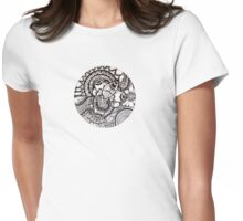 Scribbles Womens Fitted T-Shirt