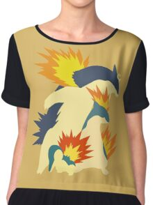 Cyndaquil Evolution Chiffon Top