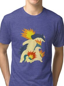 Cyndaquil Evolution Tri-blend T-Shirt