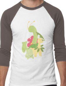 Chikorita Evolution Men's Baseball ¾ T-Shirt