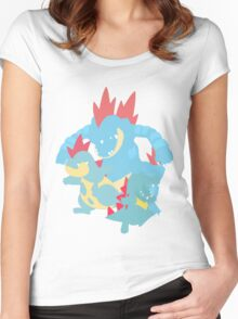 Totodile Evolution Women's Fitted Scoop T-Shirt
