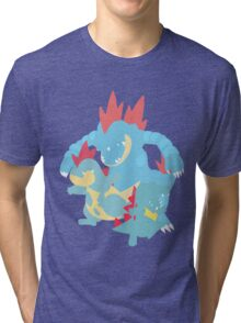 Totodile Evolution Tri-blend T-Shirt