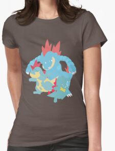 Totodile Evolution Womens Fitted T-Shirt