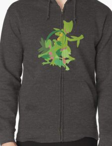 Treecko Evolution Zipped Hoodie