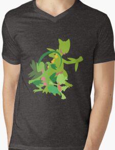 Treecko Evolution Mens V-Neck T-Shirt