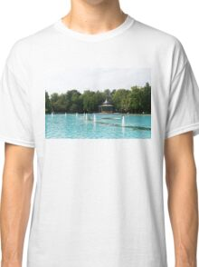 Plovdiv Singing Fountains - Bright Aquamarine Water, Dancing Jets and Music Classic T-Shirt
