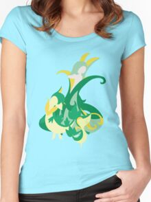 Snivy Evolution Women's Fitted Scoop T-Shirt
