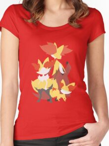 Fennekin Evolution Women's Fitted Scoop T-Shirt