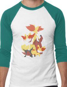 Fennekin Evolution Men's Baseball ¾ T-Shirt