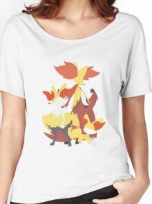 Fennekin Evolution Women's Relaxed Fit T-Shirt
