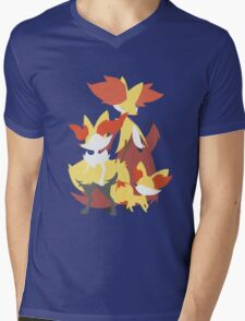 Fennekin Evolution Mens V-Neck T-Shirt