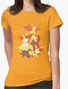 Fennekin Evolution Womens Fitted T-Shirt