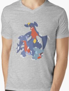 Gible Evolution Mens V-Neck T-Shirt