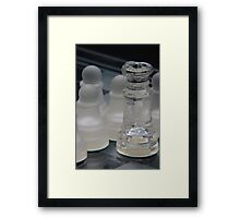Chess Queen and Pawns Framed Print