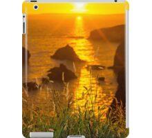 beautiful sunset over the coastal rocks iPad Case/Skin