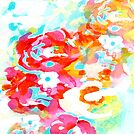 Blurry abstract flowers by Carolynne
