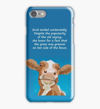 Enid - The Contented Cow iPhone Case/Skin