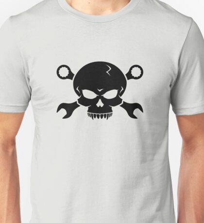 Skull 'n' Tools - Screw Pirate 2 (black) Unisex T-Shirt