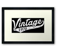 Vintage 1970 Framed Print