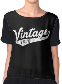 Vintage 1970 Chiffon Top