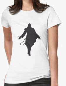 Assassin's Creed ezio silhouette black Womens Fitted T-Shirt