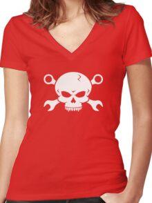Skull 'n' Tools - Screw Pirate 2 (white) Women's Fitted V-Neck T-Shirt
