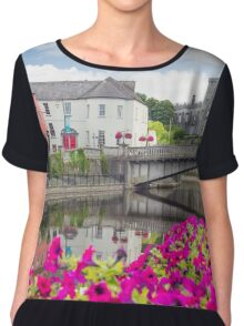 flower lined riverside view of kilkenny Chiffon Top