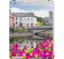 flower lined riverside view of kilkenny iPad Case/Skin