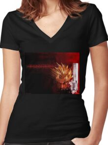 Trigun Women's Fitted V-Neck T-Shirt