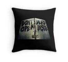 The Walking Dead Don't Dead Open Inside Throw Pillow