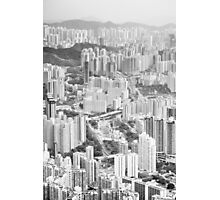 Residential and business area of east Hong Kong Photographic Print