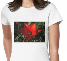 Brilliant Spring Sunshine in Red Womens Fitted T-Shirt