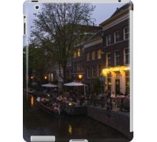 Springtime Amsterdam - Canalside Restaurant With a Terrace in Jordaan iPad Case/Skin