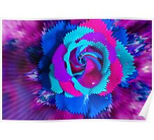 Purple Blue Rose Poster