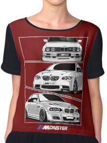 Three BMW Monster Chiffon Top