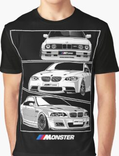 Three BMW Monster Graphic T-Shirt