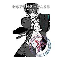 Kougami Shinya with stamp psycho pass Photographic Print