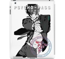 Kougami Shinya with stamp psycho pass iPad Case/Skin