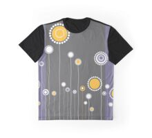 Retro Floral Pattern Graphic T-Shirt