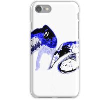 Blue orange on a white background iPhone Case/Skin