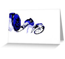 Blue orange on a white background Greeting Card