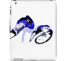 Blue orange on a white background iPad Case/Skin
