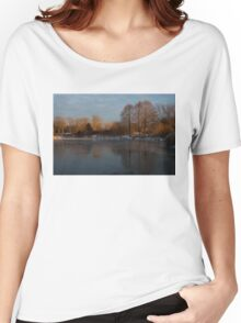 Gray and Amber - an Early Winter Morning on the Lake Shore Women's Relaxed Fit T-Shirt
