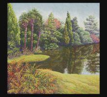 Sheffield Park Gardens, East Sussex in Pastel Baby Tee