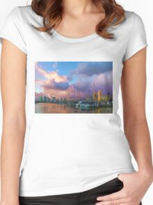 Tropical Sky - Impressions of Hawaii Women's Fitted Scoop T-Shirt