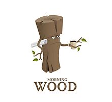 Funny Morning Wood Photographic Print