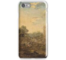 German School, late 18th century. Landscape with ruins and people staffage iPhone Case/Skin