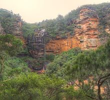 Dry But Beautiful Wentworth Falls Vista by Michael Matthews