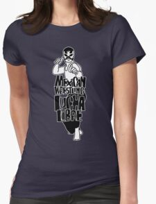 mexican wrestling lucha libre6 Womens Fitted T-Shirt